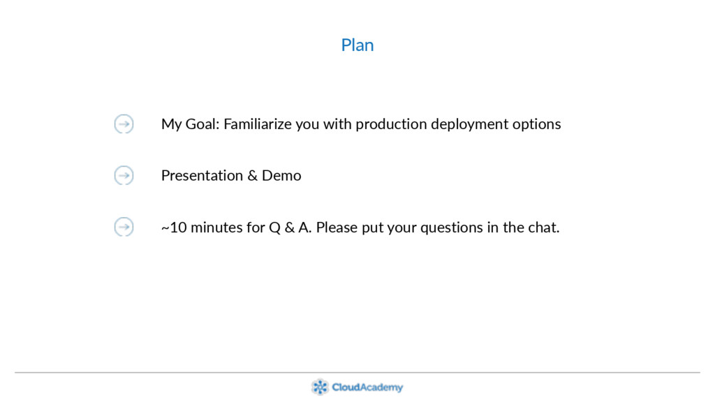 Plan My Goal: Familiarize you with production d...
