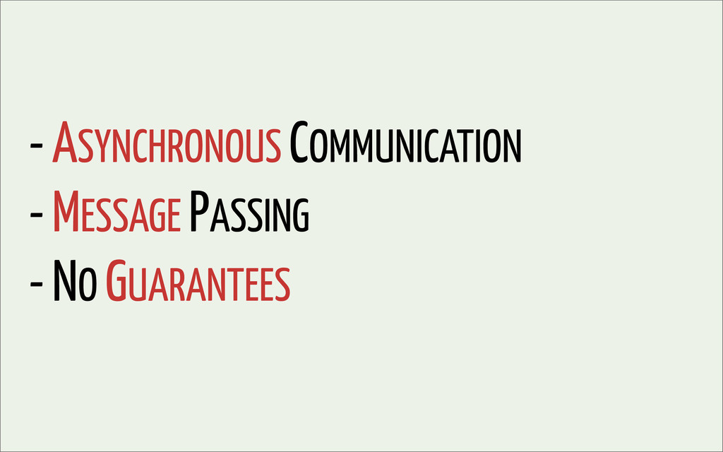 - ASYNCHRONOUS COMMUNICATION - MESSAGE PASSING ...