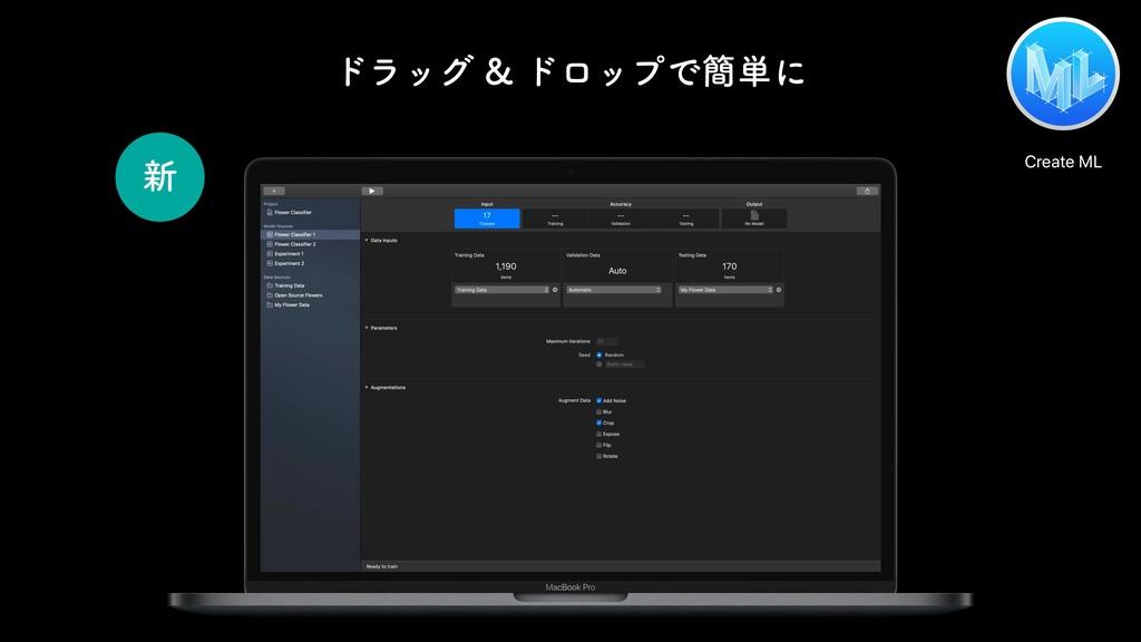 Create ML ৽ υϥοάυϩοϓͰ؆୯ʹ