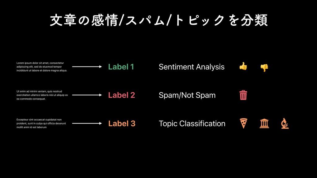 จষͷײεύϜτϐοΫΛྨ Text Classification Topic Cla...