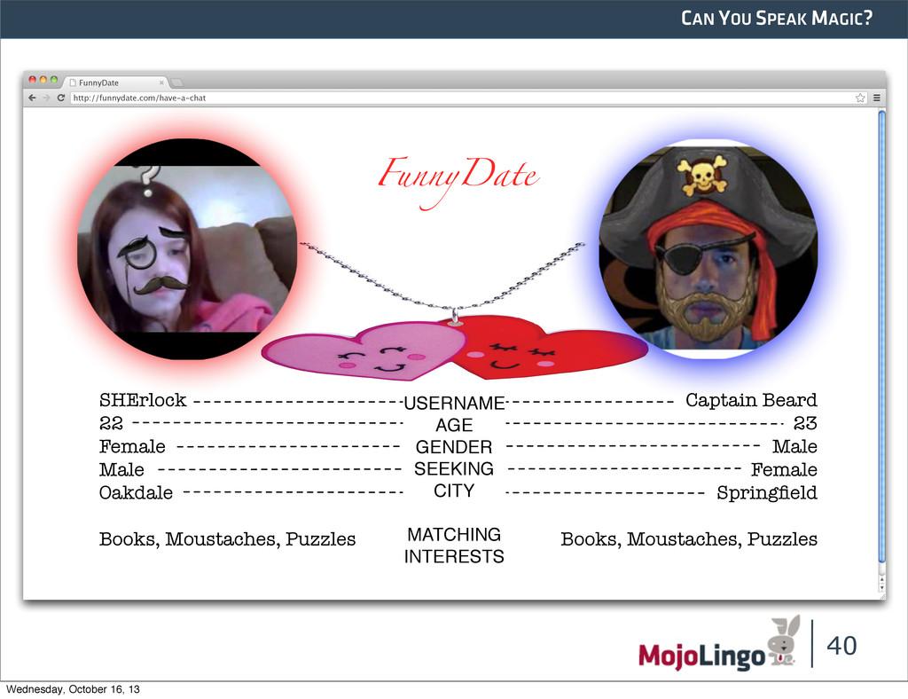 CAN YOU SPEAK MAGIC? 40 http://funnydate.com/ha...