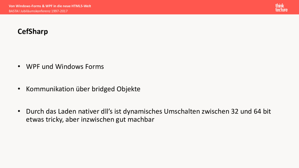 • WPF und Windows Forms • Kommunikation über br...