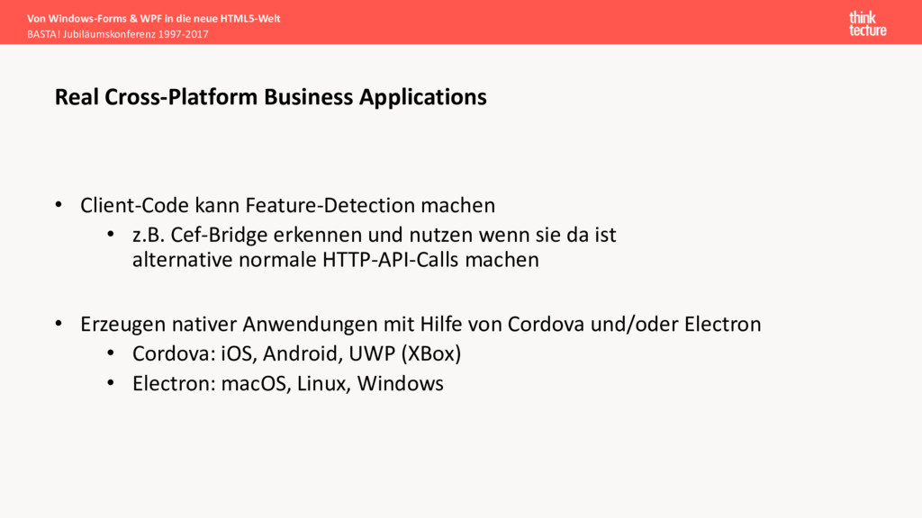 • Client-Code kann Feature-Detection machen • z...