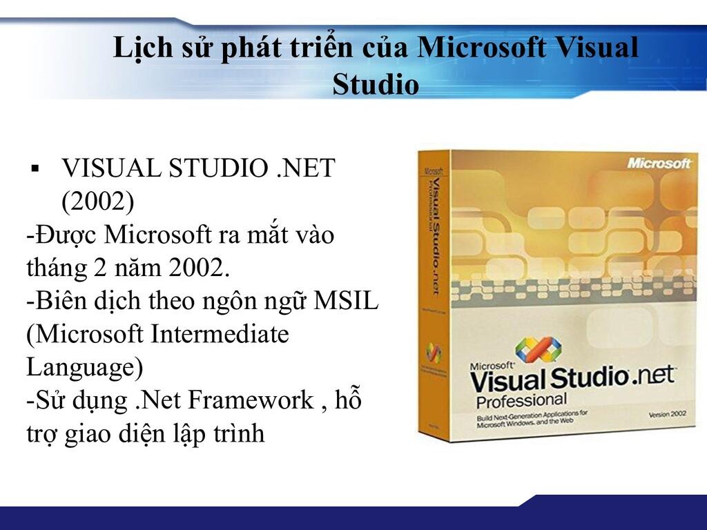 Lịch sử phát triển của Microsoft Visual Studio ...