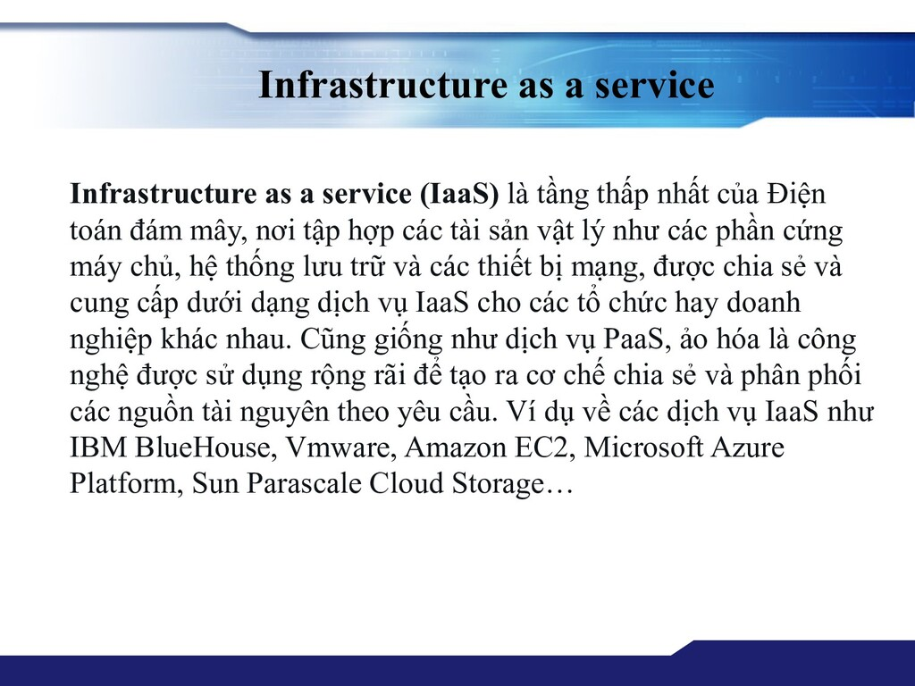 Infrastructure as a service Infrastructure as a...