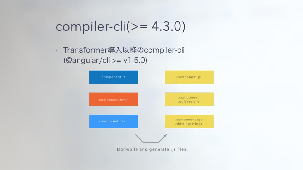 compiler-cli(>= 4.3.0) w 5SBOTGPSNFSಋೖҎ߱ͷDPNQJM...