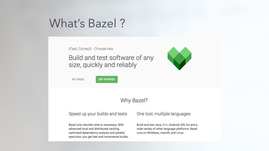 What's Bazel ?