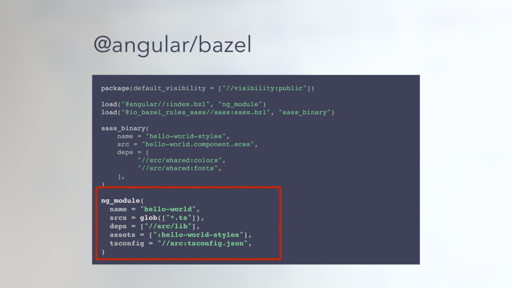 "@angular/bazel package(default_visibility = [""/..."