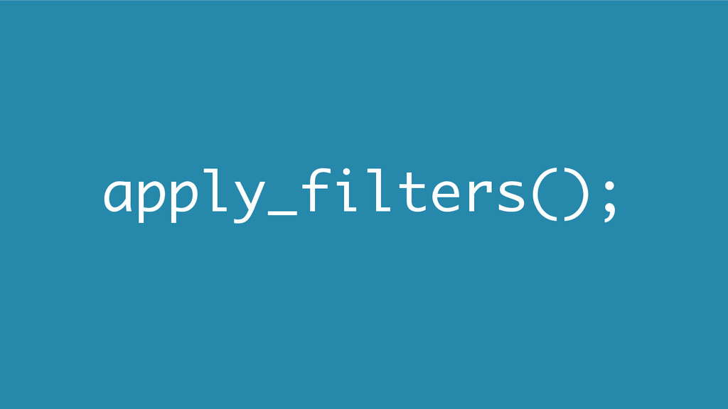 apply_filters();