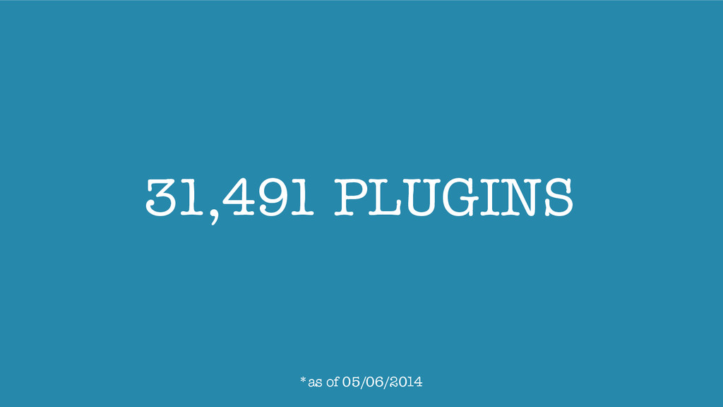 31,491 PLUGINS