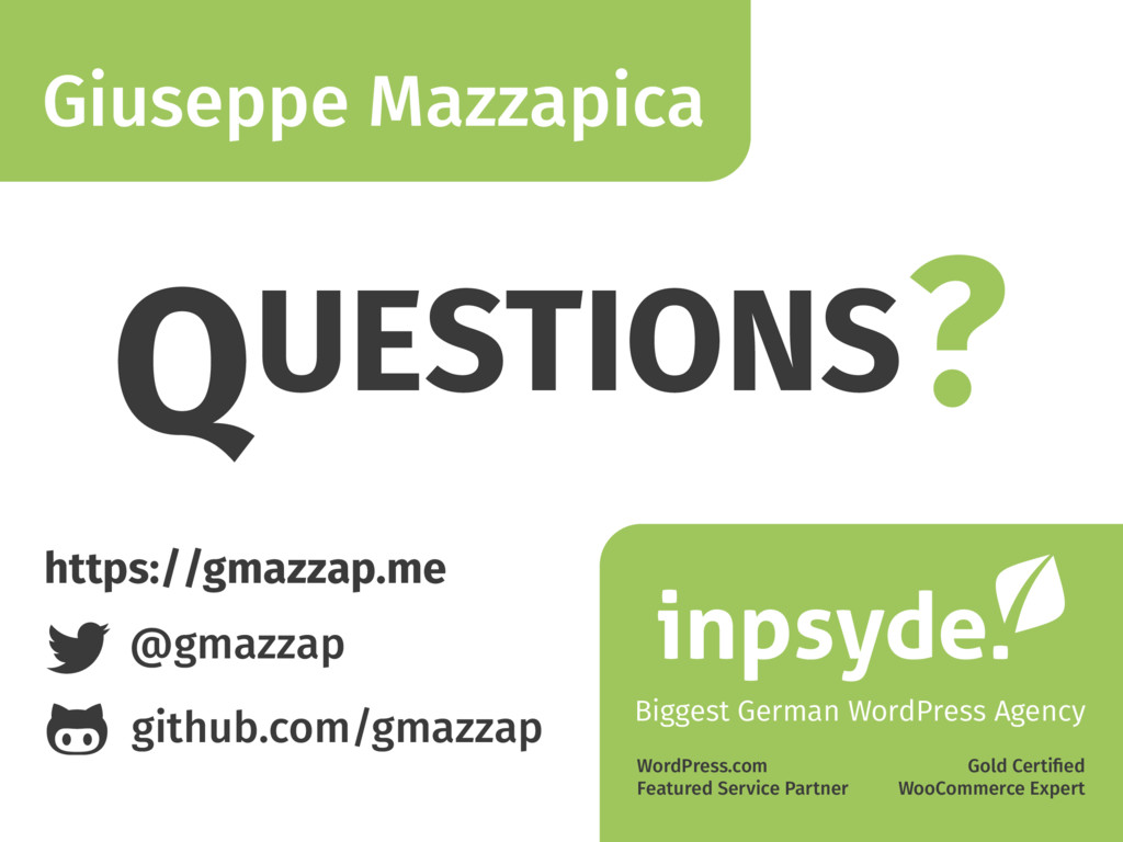 Giuseppe Mazzapica Biggest German WordPress Age...