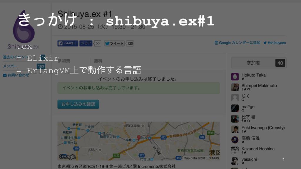 ͖͔͚ͬ : shibuya.ex#1 .ex = Elixir = ErlangVM্Ͱಈ࡞...