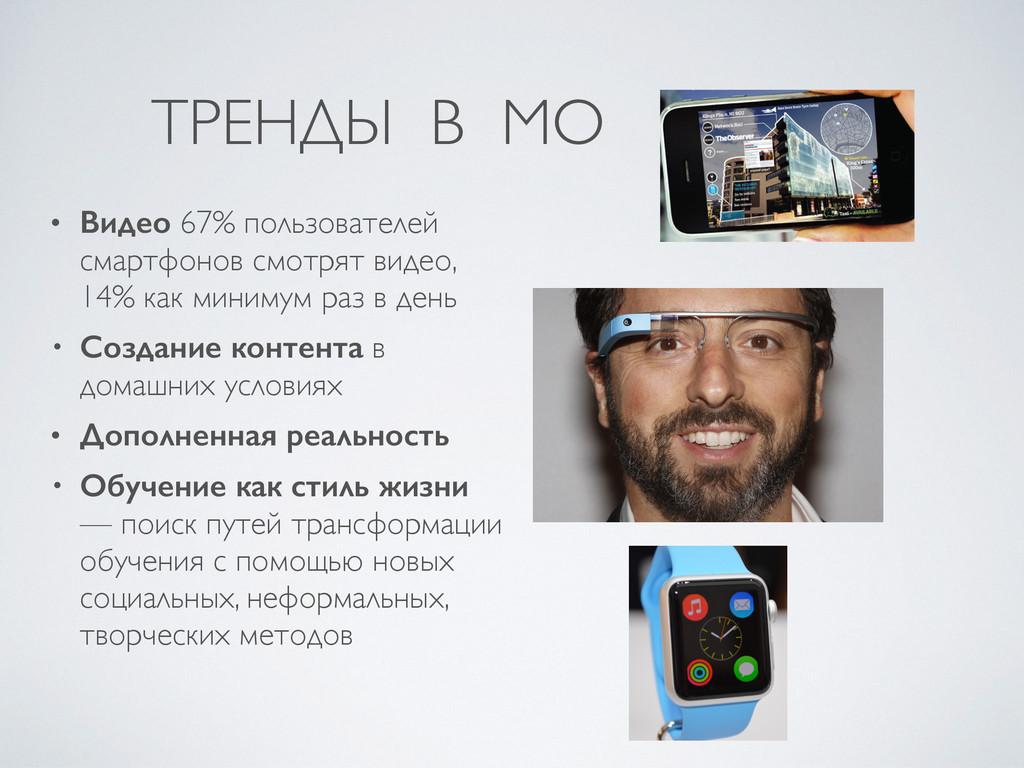 ТРЕНДЫ В МО • Видео 67% пользователей смартфоно...