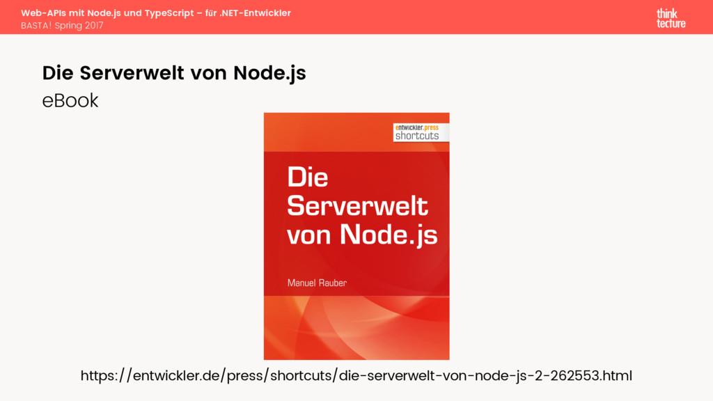 Web-APIs mit Node.js und TypeScript – für .NET...