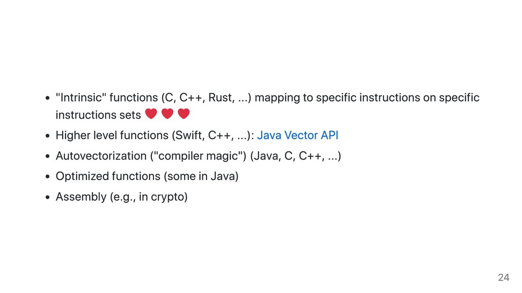 """Intrinsic"" functions (C, C++, Rust, ...) mappi..."