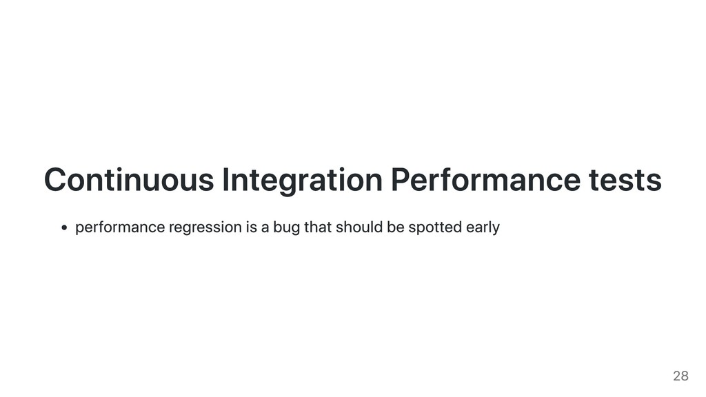 Continuous Integration Performance tests perfor...