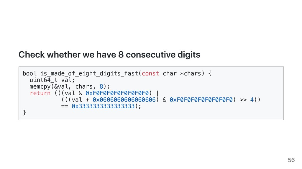Check whether we have 8 consecutive digits bool...