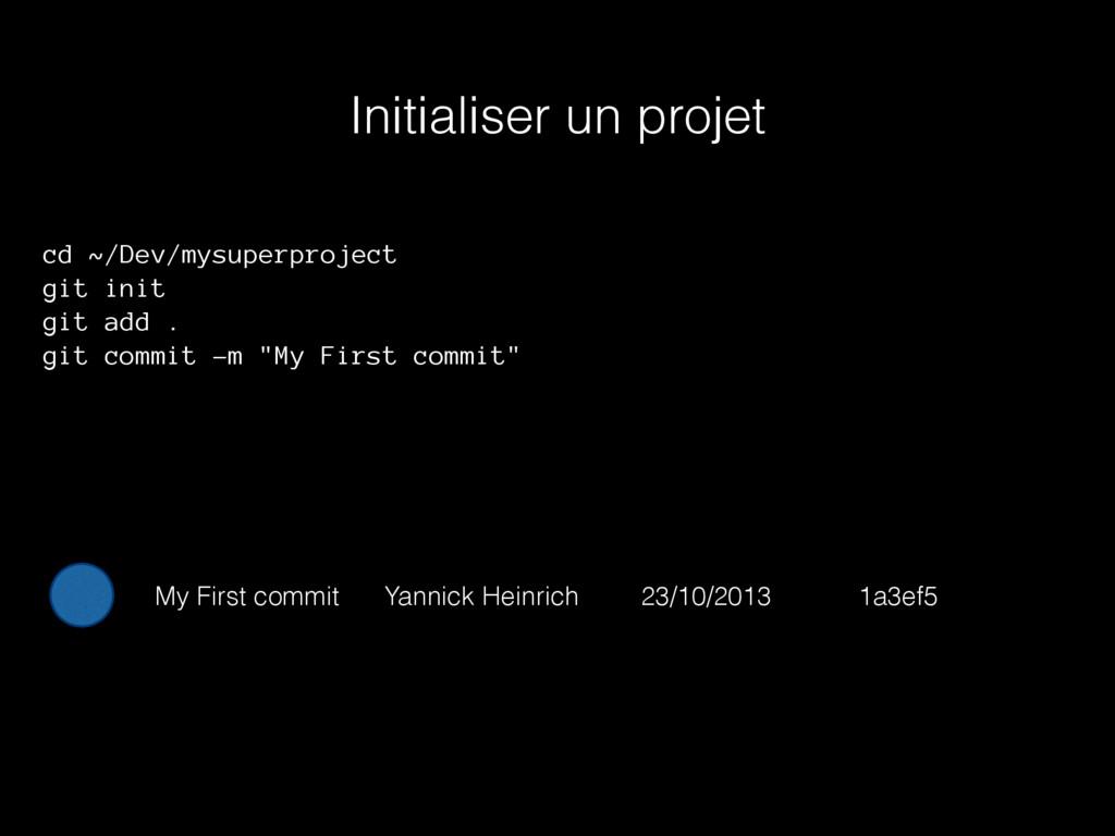 Initialiser un projet cd ~/Dev/mysuperproject g...