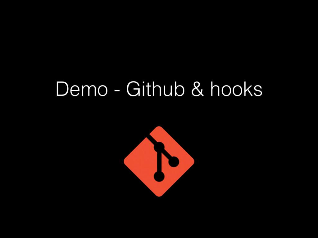 Demo - Github & hooks