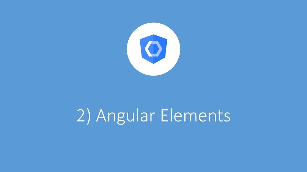 @ManfredSteyer 2) Angular Elements