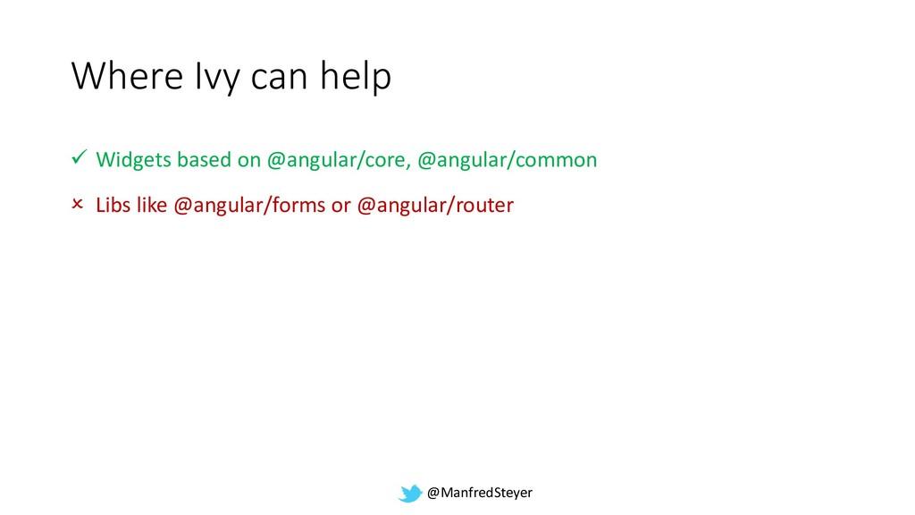@ManfredSteyer Where Ivy can help ✓ Widgets bas...