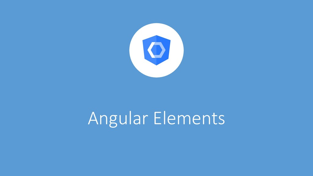 @ManfredSteyer Angular Elements