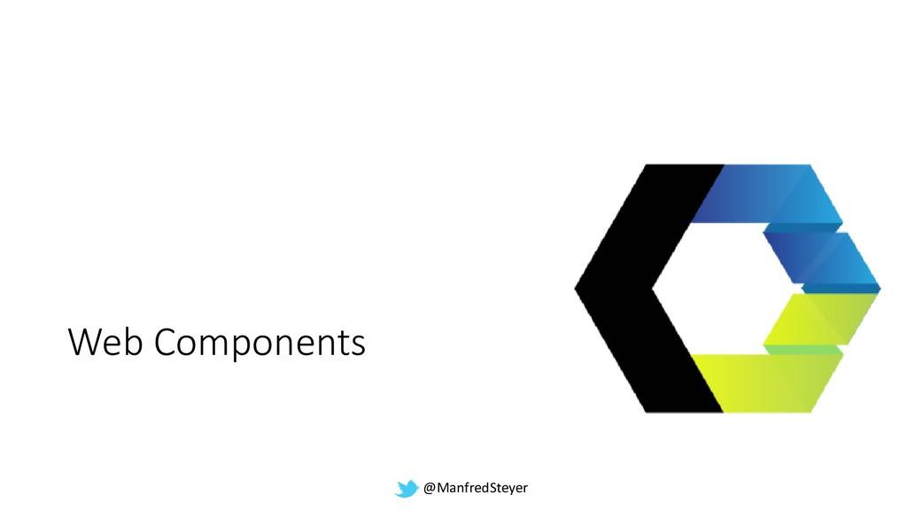 @ManfredSteyer Web Components