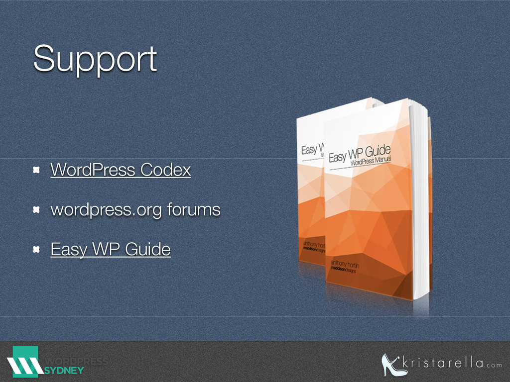 Support WordPress Codex wordpress.org forums Ea...