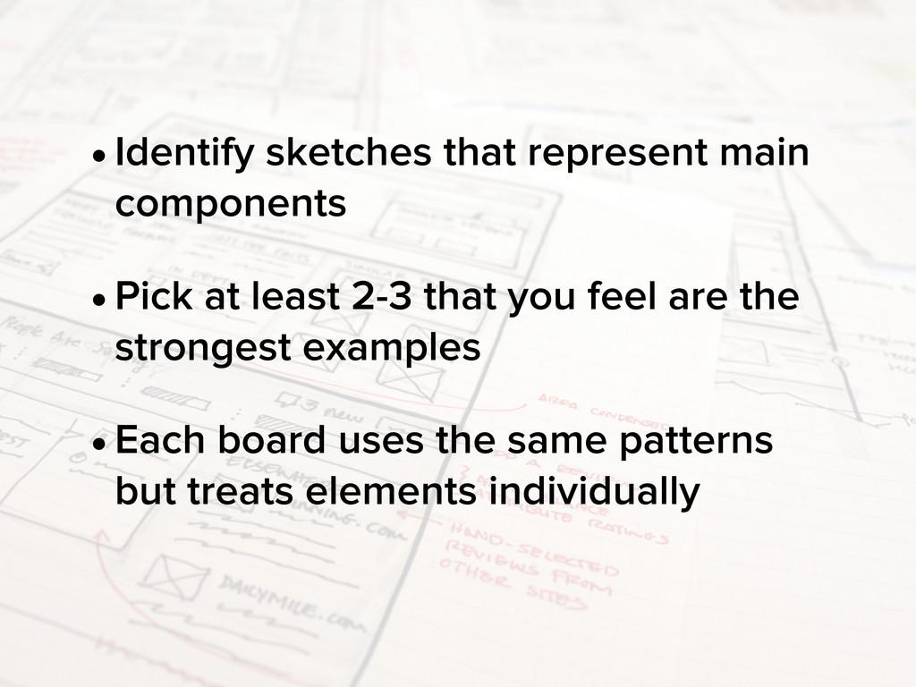 •Identify sketches that represent main componen...