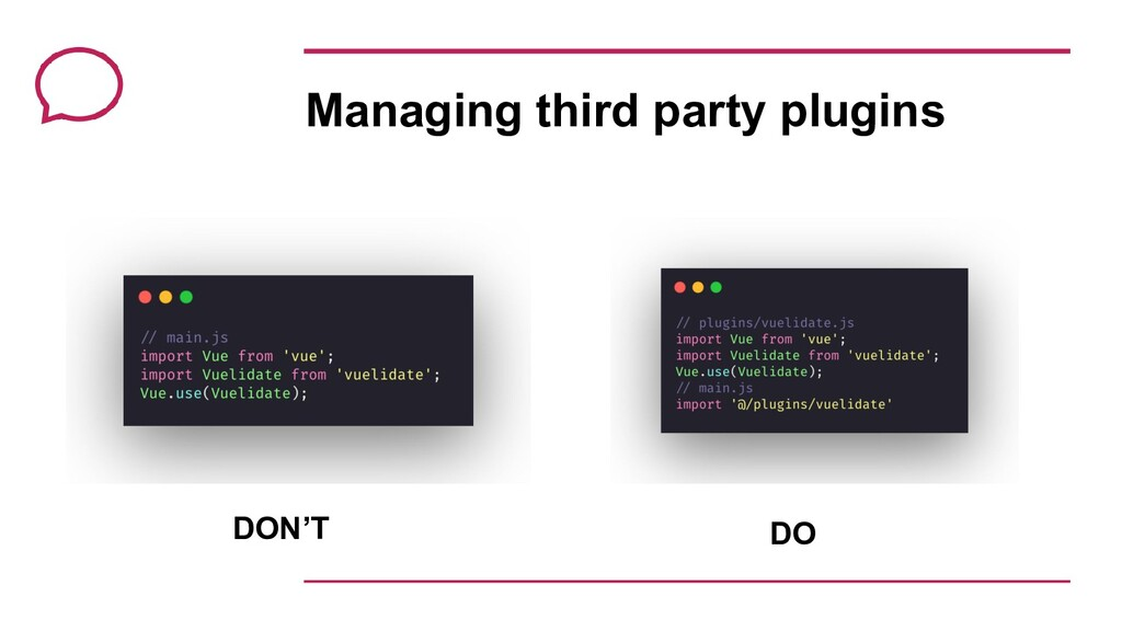 Managing third party plugins DON'T DO