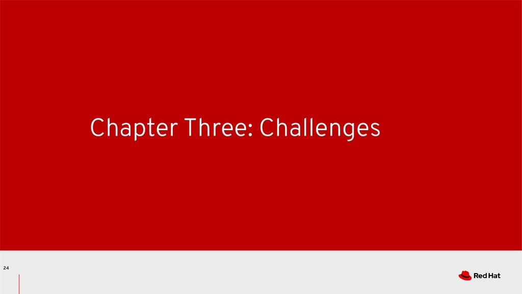 Chapter Three: Challenges 24