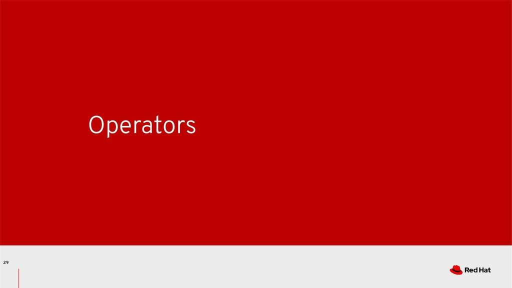 Operators 29