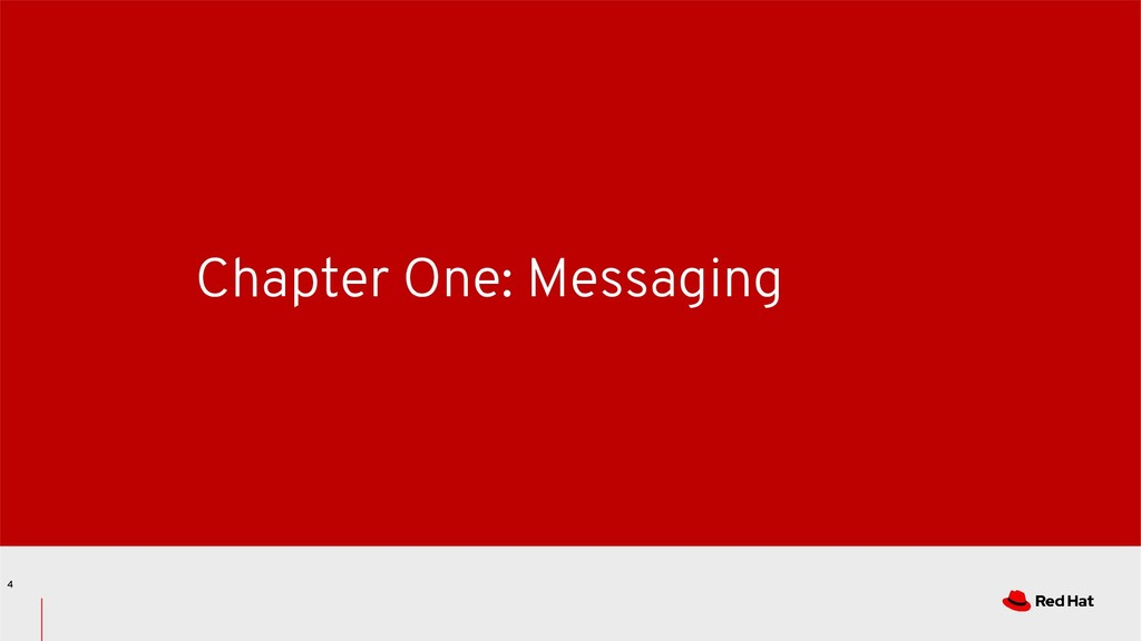 Chapter One: Messaging 4