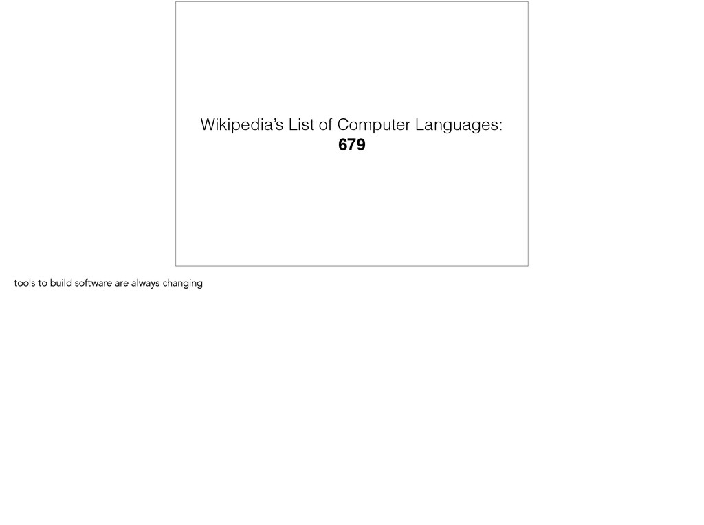 Wikipedia's List of Computer Languages: 679 too...
