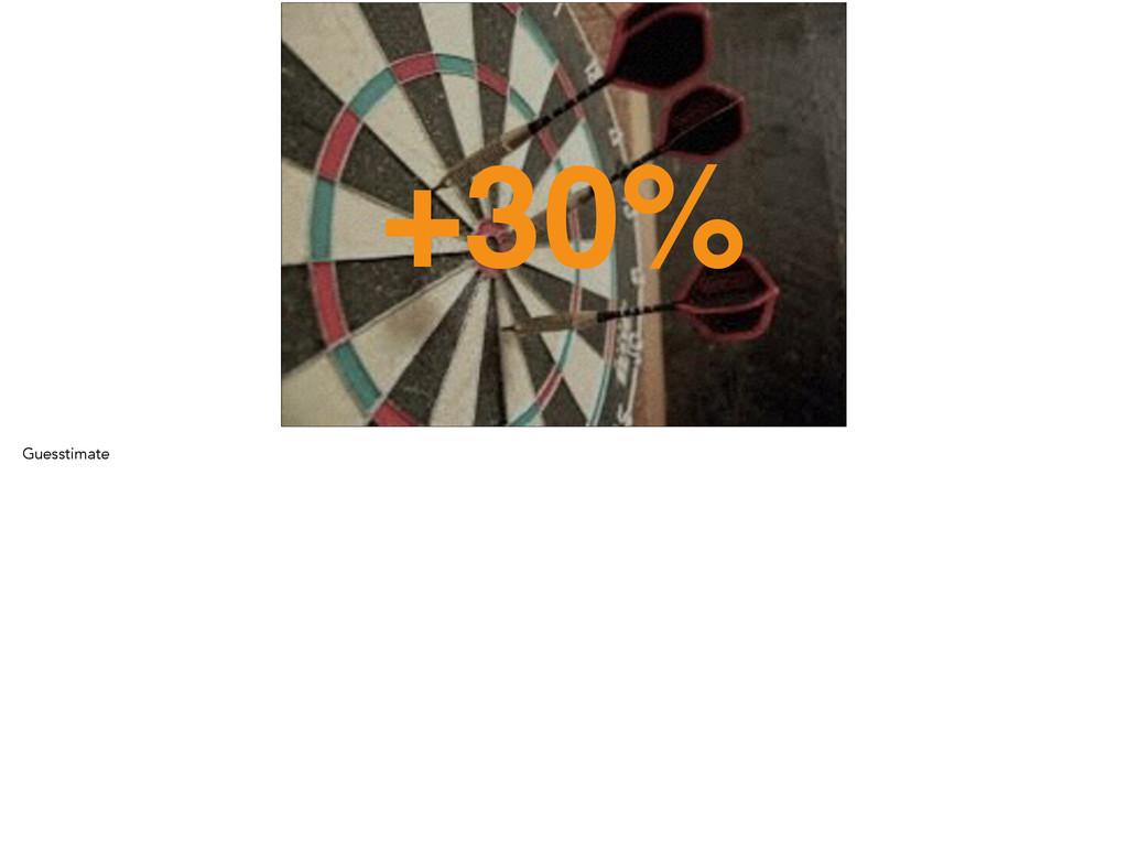 +30% Guesstimate