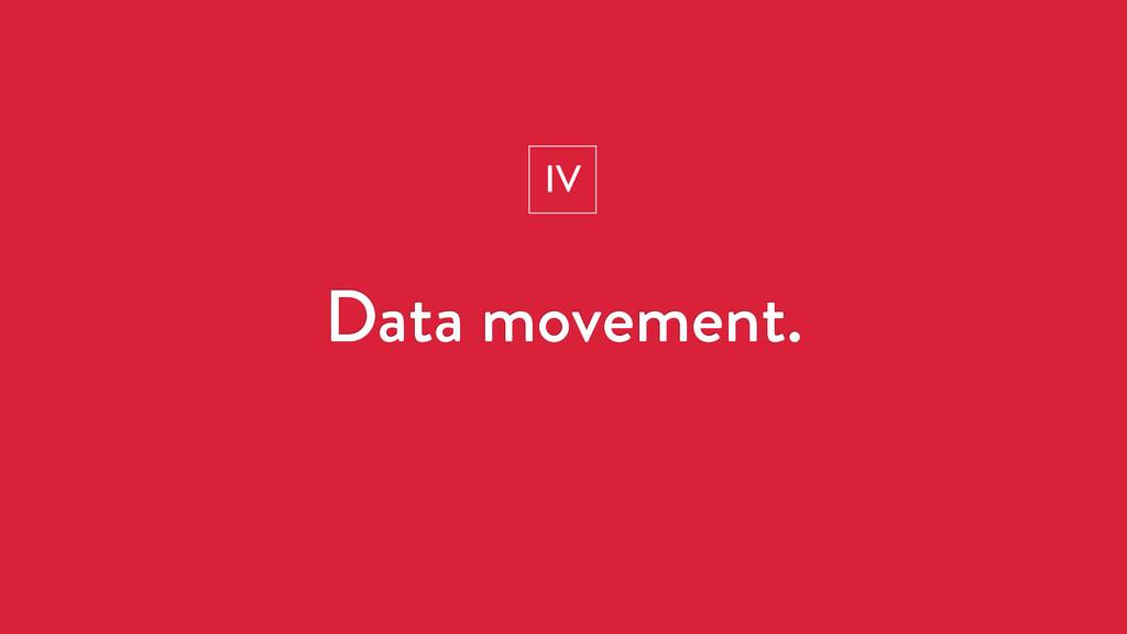 Data movement. IV