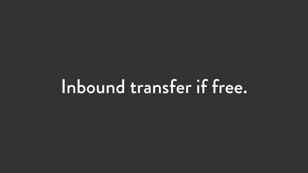 Inbound transfer if free.