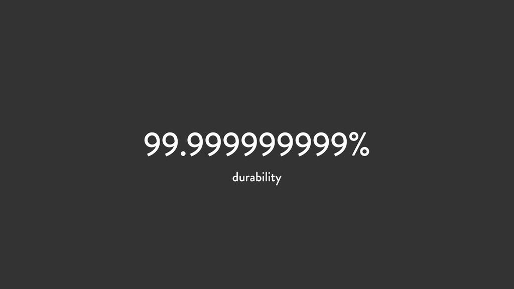 99.999999999% durability