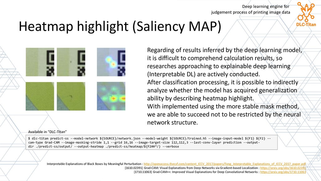 Heatmap highlight (Saliency MAP) Interpretable ...