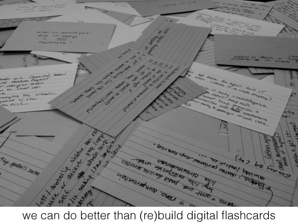 we can do better than (re)build digital flashcar...