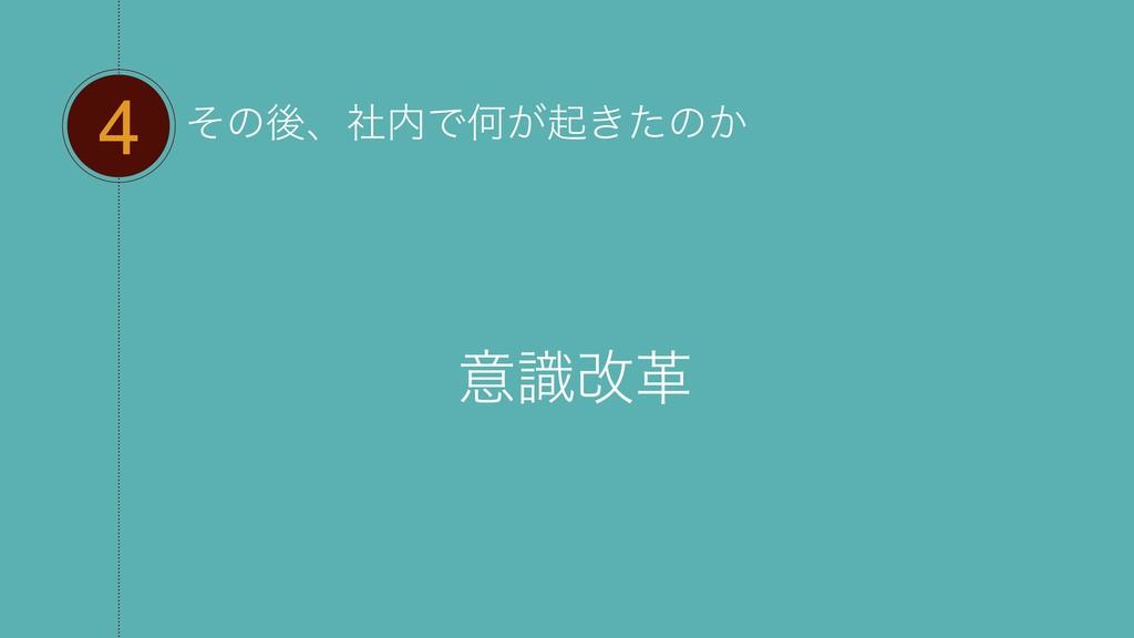 4 ͦͷޙɺࣾͰԿ͕ى͖ͨͷ͔ ҙࣝվֵ