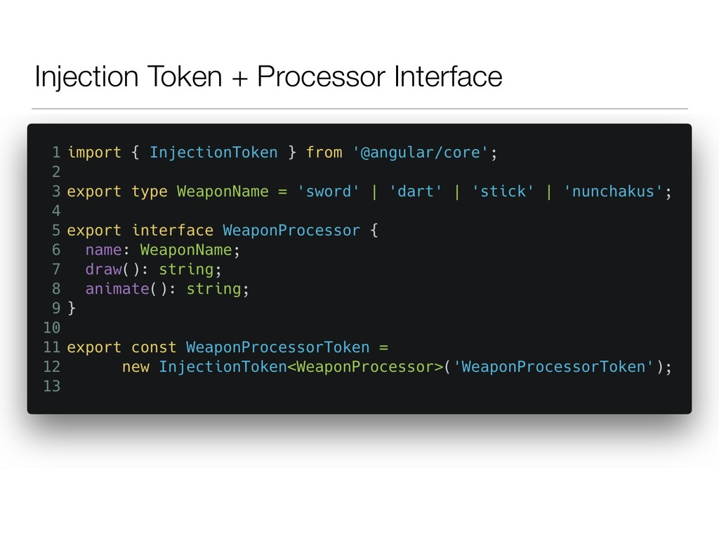 Injection Token + Processor Interface