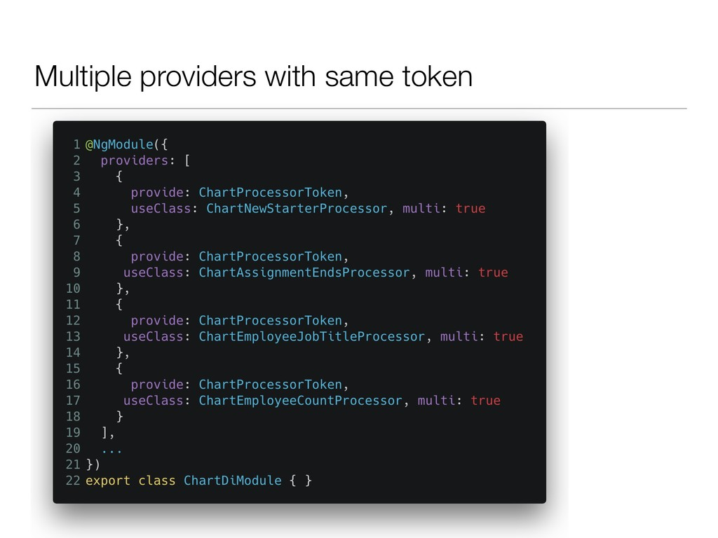 Multiple providers with same token
