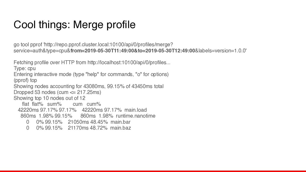 Cool things: Merge profile go tool pprof 'http:...