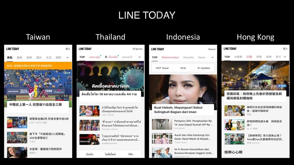 LINE TODAY 12 Taiwan Thailand Indonesia Hong Ko...