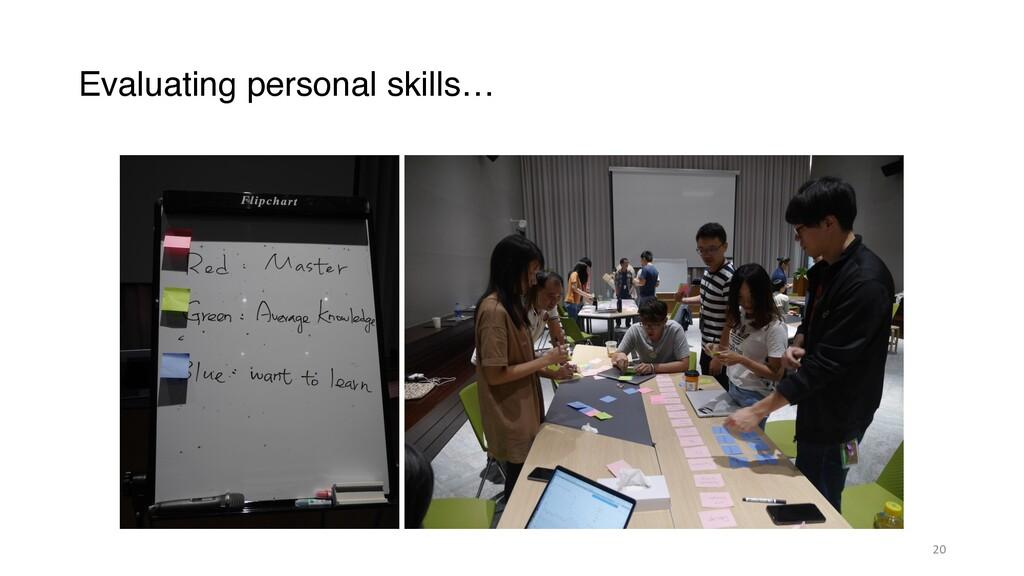 Evaluating personal skills… 20