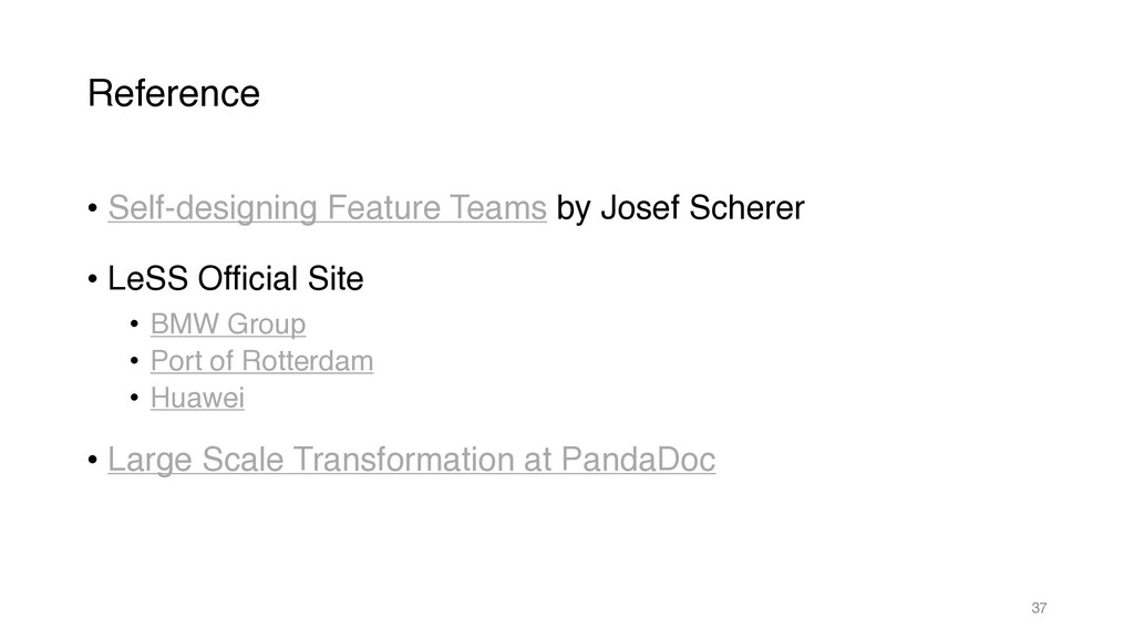 Reference • Self-designing Feature Teams by Jos...