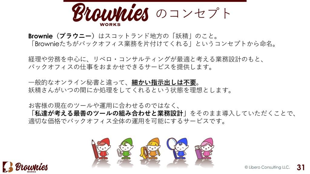 のコンセプト © Libero Consulting LLC. 31 Brownie(ブラウニ...