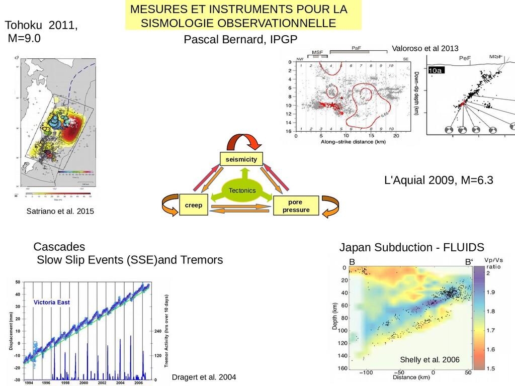 1 Tohoku 2011, M=9.0 Cascades Slow Slip Events ...