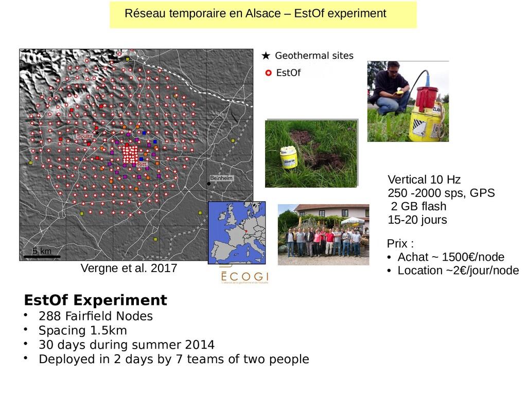 EstOf Experiment • 288 Fairfield Nodes • Spacin...